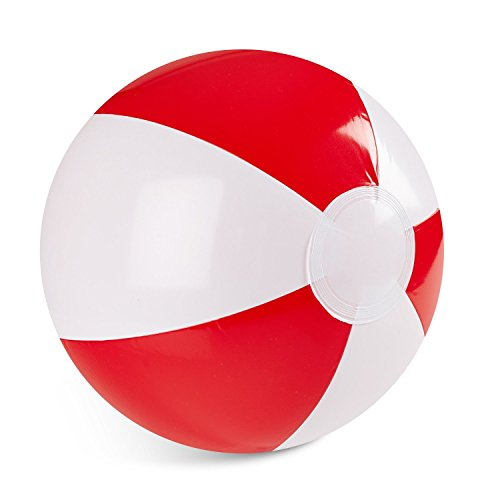 "Inflatable 12"" Inch Red and White Color 1 Dozen Beach Balls (12 Pack)"