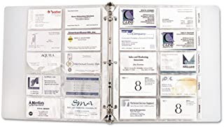 C-Line Business Card Binder Pages, 20 3 1/2 Cards per Page, Clear, 10 Pages per Pack