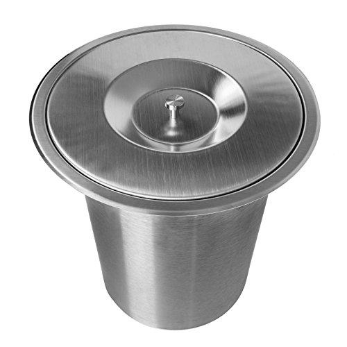 ONPIRA Abfalleimer Edelstahl 7,0L für den Einbau in der Küche, Arbeitsplatte UVM.