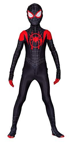 Spiderman Costume Carnevale Spider Man Nuovo Universo Bimbo Uomo Cosplay SPM016 SPM016B (Uomo con Occhiali 3D, S)