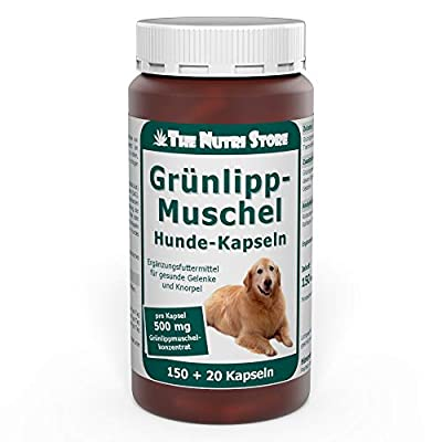 Grünlippmuschel 500 mg für Hunde Kapseln 150 + 20 Stk.