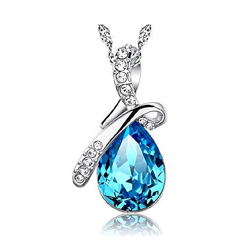 Kette Damen 925 Sterling Silber 3A Zirkonia Halskette exquisite Geschenk-B by CJbrother