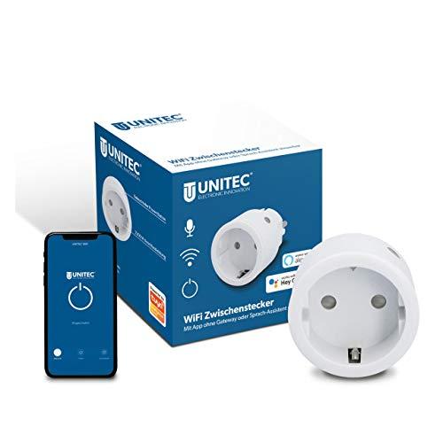 UNITEC WIFI Zwischenstecker | WLAN Smart Steckdose mit Timer und Zeitschaltuhr