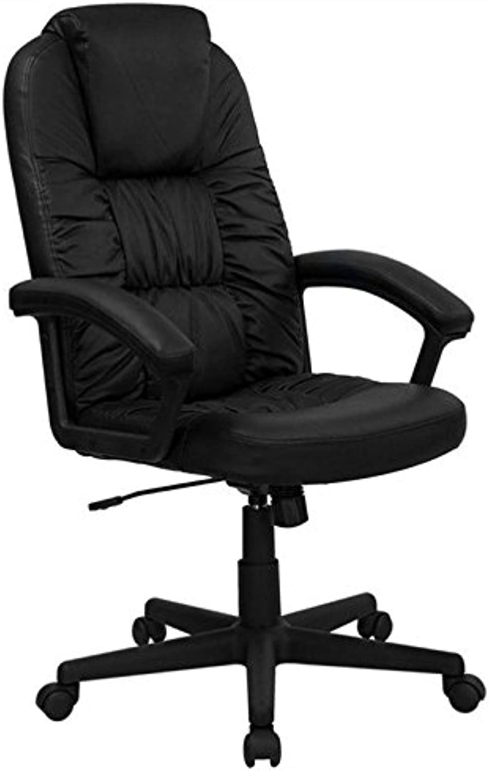 Scranton & Co High Back Swivel Office Chair in Black