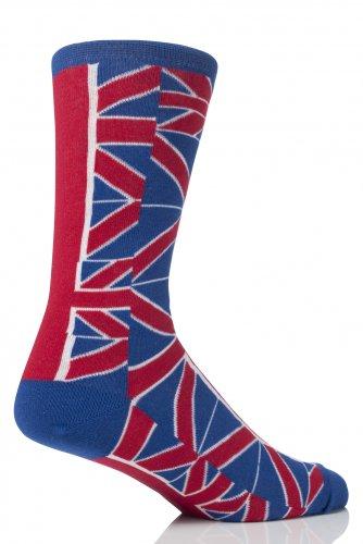 Union Jack SockShop coton design riches Chaussettes - 7-11 Mens - / Blanc/Rouge Bleu