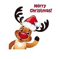 ワッペン アイロン 、熱転写パッチ、パーソナライズされた服のDIY、漫画のクリスマスシリーズエルク