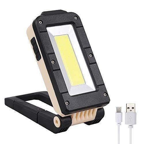 COLFULINE Luz de Trabajo Linterna de Trabajo portátil Recargable Portátil Recargable Linterna Antorcha de Inspección LED COB Impermeable, Plegable Base magnética Camping Pesca Reparación de Coche