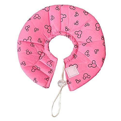 Collar isabelino ajustable para mascotas pequeños animales isabelinos cuello cubierta cono para hámster