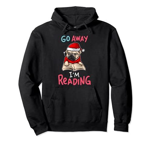 Go Away I'm Reading - Gorro de Navidad con gafas de sol Sudadera con Capucha