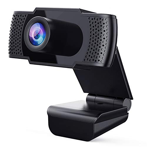 Webcam with Microphone - Full 1080P HD PC Webcam Portable Compatible with Most of Device & App, Plug and Play Webcam for Online Class Online Conferencing Streaming Laptop Desktop USB 2.0 Web Camera