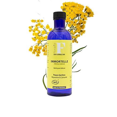 Florabiol - Eau Florale d'Immortelle Bio 200ml - eau florale Hélichryse Italienne Bio - Lotion Apaisante - Anti-Rougeurs - Jambes Légères - Certifié B