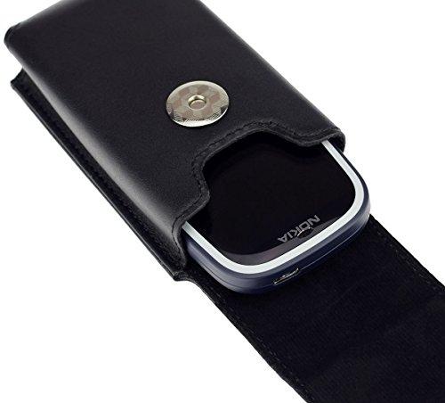 Vertikal Etui für Nokia 3310 (2017) | Köcher Tasche Hülle Ledertasche Vertical Hülle Handytasche mit einer Gürtelschlaufe auf der Rückseite