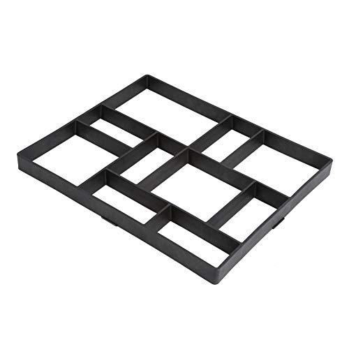 Molde de plástico reutilizable para pavimentos, para manualidades, molde de hormigón, molde para camino, terraza, patio, jardín, negro, 60 x 50 x 5 cm