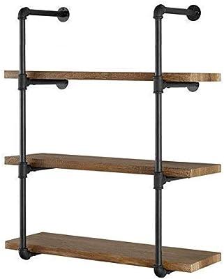 Amazon com: Industrial Retro Wall Mount iron Pipe Shelf,DIY