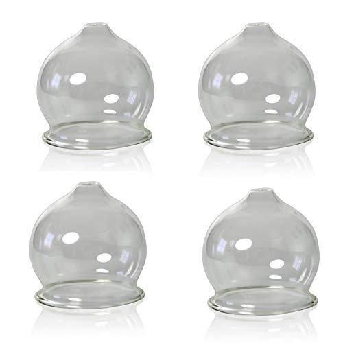 Lauschaer Lot de 4 pots en verre soufflé à la bouche Env. 60 mm