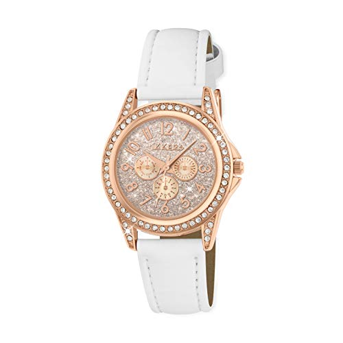Tikkers Girl's Analogue Quartz Watch with Imitation Leather Strap TK0129