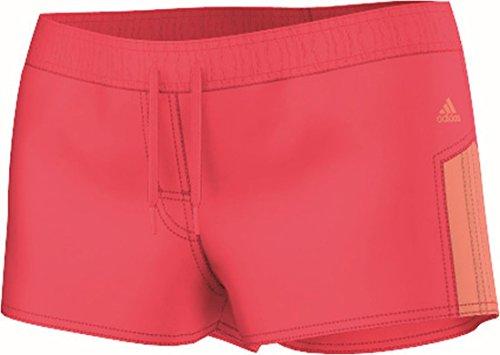 adidas Damen Badeshorts ESS 3S SH, Rot/Orange, 42