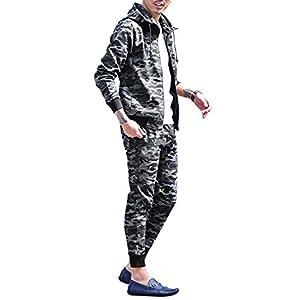 ジョーカーセレクト(JOKER Select) セットアップ メンズ トレーナー パーカー ジョガーパンツ スキニー スウェット Sセット ブラックカモ