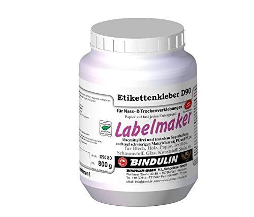 Labelmaker Etikettenkleber PE-Dose, für Blech, Holz, Pappe, Karton, Glas, Stein, Gummi, Kunststoff, Styropor® (500 g)