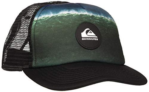 Quiksilver Psychic Patterns - Gorra Trucker para Chicos 8-16 Cap, Niños, Black, 1SZ