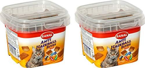 Sanal anti-hairball snoepjes per 2 verpakking van 75 gram.