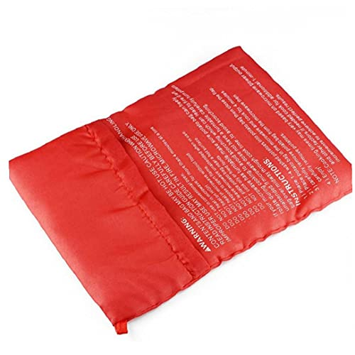 TOSSPER 1pcs Microondas Horno Microondas Rojo Bolsa De Patatas Cocinar Bolsa Lavable Cocina Horno De Microondas Bolsa De Patatas De Cocción De La Patata