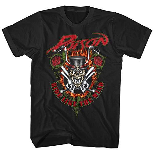 Poison Ride Like The Wind Men's T Shirt Rock Band Album Cover Concert Tour Merch