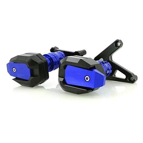 La Caída De La Motocicleta CNC del Marco De Protección Deslizante Carenado Guardia Crash Pad Protector para HO&NDA CBR 650R CB650R 2019 2020 (Color : Azul, Talla : Style-B)