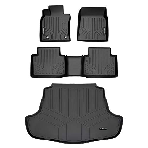 SMARTLINER Custom Fit Floor Mats 2 Rows and Cargo Liner Set Black for 2018-2021 Toyota Camry Hybrid Models Only