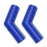 2PCS Cubierta Protectora para Palanca de Cambios de Motocicleta Protector de Zapata Engranaje de Goma Universal Calcetín Goma Bota Cambio Marcha (Azul)