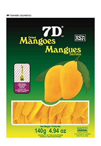 7D dried mangoes 140 Gram 5 Pack