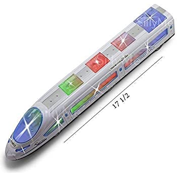 Urban Festivities Speed Bullet Metro Express Train Lighting and Musical Toys for Kids Girls and Boys Bump and Go Train Toy Birthday Gift for Children Kids