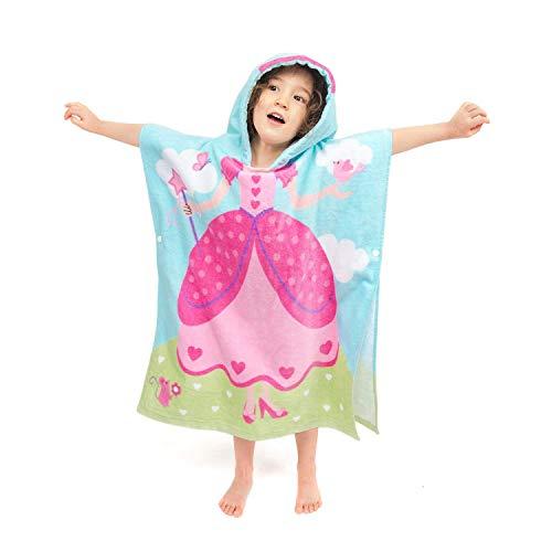 JIAN YA NA 100% Algodón Kid Toalla de Playa Baño Baño Toalla con Capucha Poncho Toalla Microfibra Niños de Dibujos Animados con Capucha Secado rápido Beach Swimming Towel (Reina de la Corona)