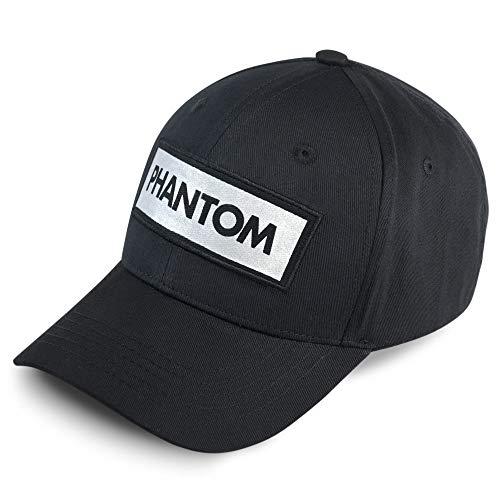 Phantom Athletics Cap Laser | Kappe mit reflektierendem Logo für Outdoor Sport, Training | Unisex Einheitsgröße, Reflective, mit Verschluss