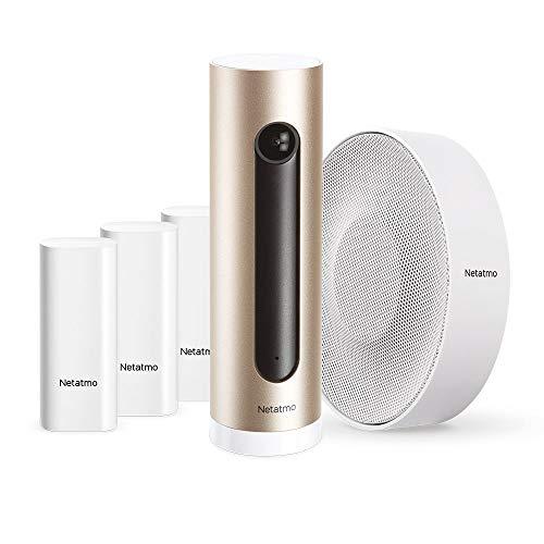 Netatmo Smarte Alarmanlage mit Smarte Überwachungskamera Innen + Smarte Innen-Alarmsirene + Smarte Tür- und Fenstersensoren