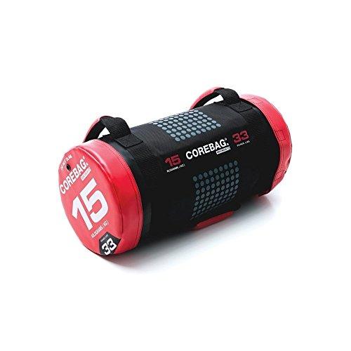 ESCAPE Corebag Gewichtssack Training Fitnessbag Powerbag Crossfit Gewicht, schwarz/Rot, 15 kg