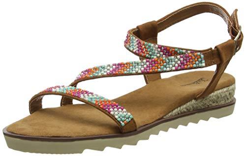 Joe Browns Sparkle All Day Sandals, Sandalias de Punta Descubierta para Mujer, Marrón (Tan Multi A), 38 EU