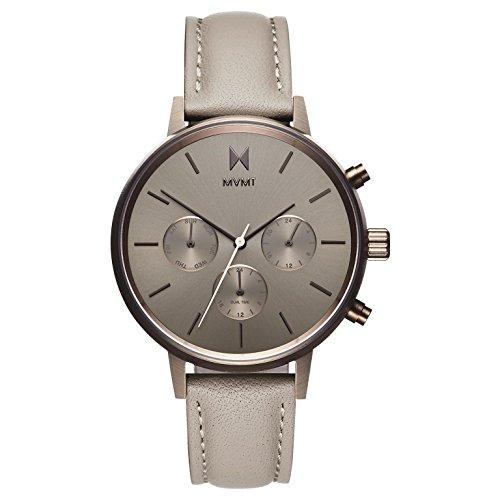 MVMT Damen Multi Zifferblatt Quarz Uhr mit Leder Armband D-FC01-TITA