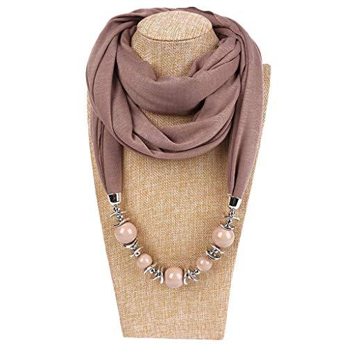 Baiyao Damen klassischer Stil Halskette Sash Schal mit Schmuck Anhänger Geschenk(Black Friday)