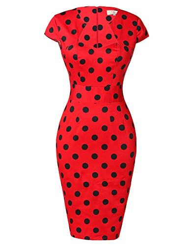 GRACE KARIN Vestido de manga corta para mujer, estilo vintage, años 50, 39 colores, XS ~ XXXL 7597