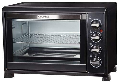 Grunkel - HR-38N RM - Horno eléctrico multifunción de sobremesa de 38l con 3 funciones de calor y selector de temperatura hasta 230ºC. Temporizador hasta 60 min - 2000W - Negro