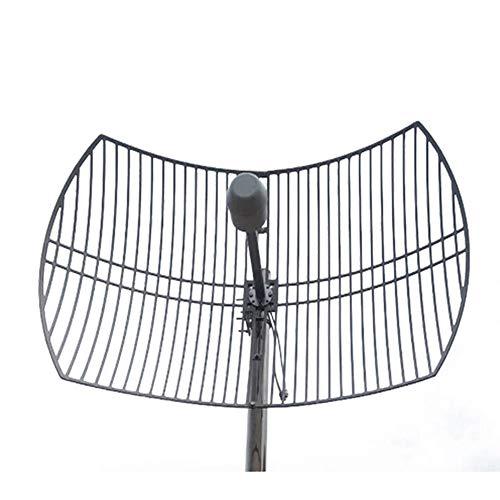 Außenantenne Langstrecken Antenne 1710-2700 MHz 24Dbi Richtung Hoher Gewinn N-Typ Metallwürfel Cast Grid Parabolisch Windbeständig