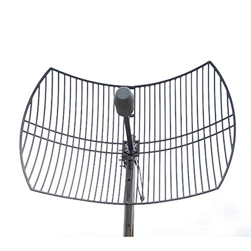 NZYMD Ultra Wide-Band Cellular Antenna Long Range High Gain Parabolic Grid Weatherproof Outdoor Cell Phone Booster Double 24 dBi Gain