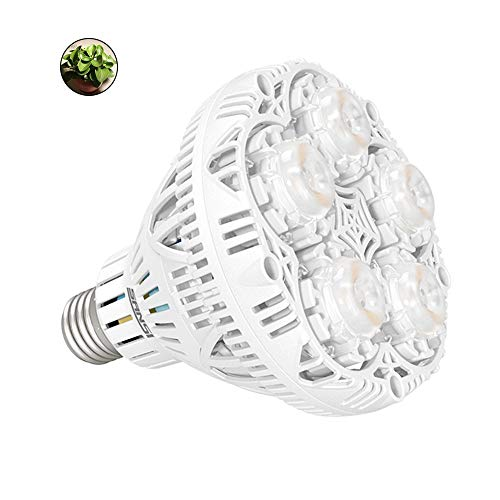 SANSI 24W LED Plant Light Bulb Full Spectrum LED Grow Light Plant Lights for Indoor Plants, E26 Grow Light Bulb for Hydroponics Greenhouse Houseplants Vegetable Tobacco, Sunlight White UV IR