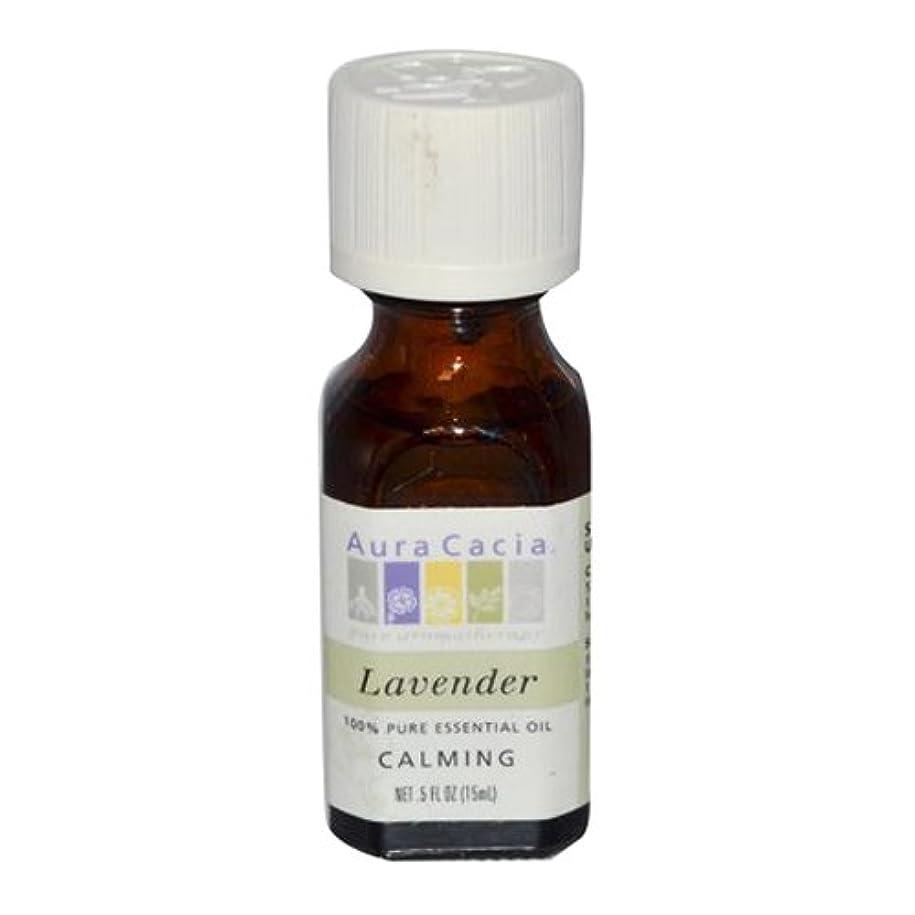 睡眠線動かすAura Cacia Lavender Calming Pure Essential Oil 15 ml (並行輸入品)