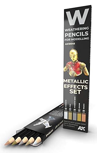 AKI Weathering Pencil Set - Metal Effects