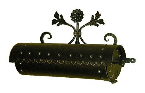Lorenz Ferart 6024.0 Portagiornali, Ferro Battuto, Struttura Base Nero Sfumata a Mano, Argento