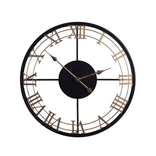 Creative and Practical/ 便利な60cm 24インチ錬鉄製壁時計サイレント掛かる時計壁掛け時計モダンなデザイン時計 Suitable for Home
