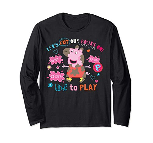 Peppa Pig Boots On To Play Manche Longue