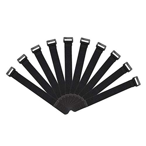 Necesaria 10pcs reutilizable caña de pescar del lazo del sostenedor de la correa de tirantes de fijación de ganchos cuerda del cable de lazo corbata Cinturón Equipos de pesca Articulos boilie
